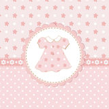Baby girl shower with dress. Baby girl background with dress Royalty Free Stock Photos