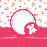 Baby girl background with dress Royalty Free Stock Image