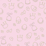 Baby girl background Royalty Free Stock Photography