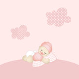 Baby girl background Stock Photos