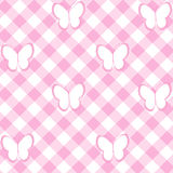 Baby girl background with tablecloth and butterflies Stock Image