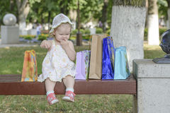 Baby girl bags Stock Photography