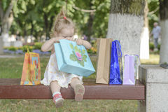 Baby girl bags Royalty Free Stock Photography
