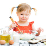 Baby girl baking Stock Photos