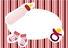 Baby girl banner Royalty Free Stock Photography