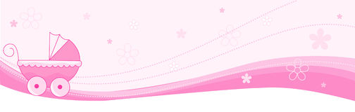 Baby girl banner / header Royalty Free Stock Photos
