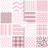 Seamless Background Patterns - Baby Girl Basics Stock Image