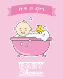 Baby girl in bath Royalty Free Stock Photo