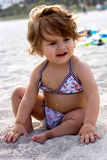 Baby Girl at the beach Stock Images