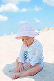 Baby girl beach royalty free stock images