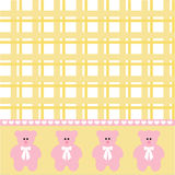 Baby girl bear background Stock Images