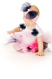 Baby girl in beautiful clothes Stock Image