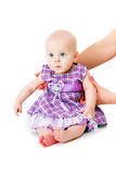 Baby girl in beautiful dress Royalty Free Stock Image
