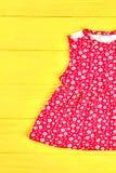 Baby-girl beautiful summer dress. Stock Image