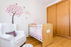 Baby girl bedroom Royalty Free Stock Photography