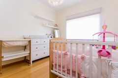 Baby girl bedroom Stock Photo
