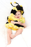 Baby girl - bee Royalty Free Stock Photo