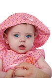 Baby girl being held royalty free stock image