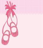 Baby girl. Birth of the little girl, greeting card, birthday vector illustration