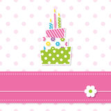 Baby girl birthday cake Stock Photo