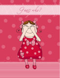Baby Girl birthday card Stock Image
