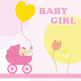 Baby girl birthday card Royalty Free Stock Photography