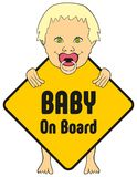 Baby Girl on board sticker Royalty Free Stock Photos