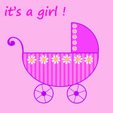 Baby girl born. Celebrating the birth of a little baby girl Royalty Free Stock Photos