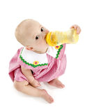 Baby Girl with Bottle royalty free stock photos