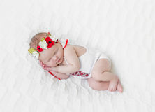 Baby girl in bright colorful hairband Royalty Free Stock Photos