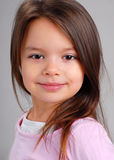 Baby girl with brown hair Stock Photography