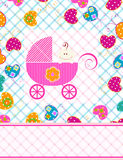Baby girl and butterflies Stock Images