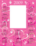 Baby Girl Calendar 2009 Royalty Free Stock Photo