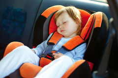 Baby girl  in car Royalty Free Stock Photography