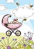 Baby girl, card Royalty Free Stock Photo
