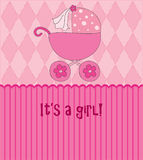 Baby girl card Stock Photos