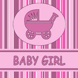 Baby girl card Stock Images