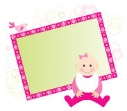 Baby girl card Stock Photo