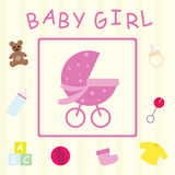 Baby Girl Card Stock Photos