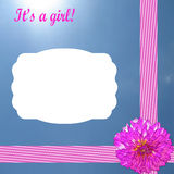 Baby girl card Royalty Free Stock Photos