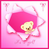 Baby girl card design. A illustration of baby girl card design Stock Images