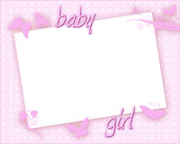 Baby Girl Card Stock Photography