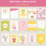 Baby Girl Card Set Stock Image