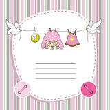 Baby girl card Royalty Free Stock Image