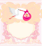 Baby girl Card Stock Image