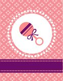 Baby girl card template. With place for your text,  illustration Stock Image