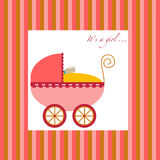 Baby Girl Carriage Stock Photo