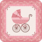 Baby girl carriage Royalty Free Stock Photos