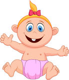 Baby girl cartoon Royalty Free Stock Images