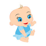Baby girl cartoon Royalty Free Stock Photo